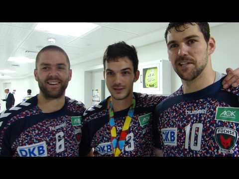 Fuchse Berlin trio celebrates IHF Super Globe 2015 title!