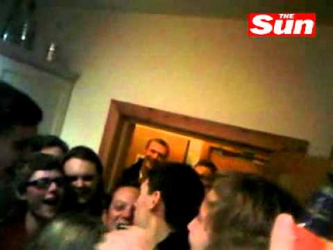 Manchester City players Gareth Barry, Adam Johnson, Joe Hart get drunk with a group of students