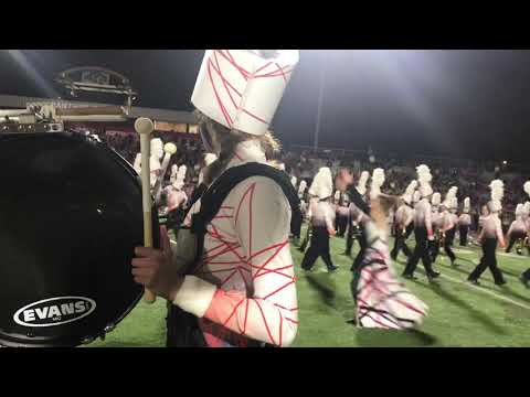 """Cabot High School Marching Band 2018 """"THE RED LINE"""" — Tuba Cam"""