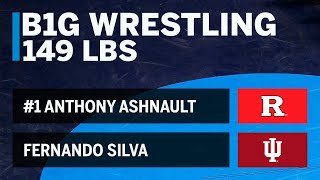 149 LBS: #1 Anthony Ashnault (Rutgers) vs. Fernando Silva (Indiana) | 2019 B1G Wrestling