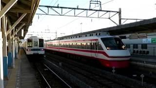 東武鉄道 佐野線 佐野市駅 交換風景