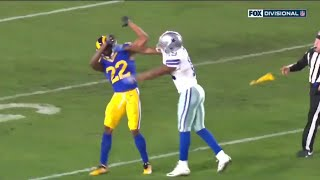 #amari cooper marcus peters fight