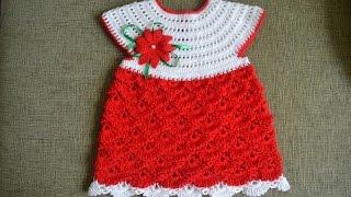 """""""Детское ажурное платье крючком/Мастер класс для начинающих"""" (Child fishnet dress crochet)"""