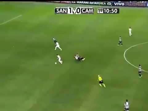 Neymar com a camisa 200 GOOOL incrível Santos X Atletico-MG 2x1