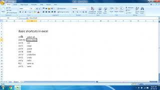 Excel for Beginners, Shortcuts tutorial in HINDI/URDU| Keyboard tricks and Shortcuts