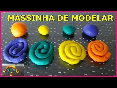 COMO FAZER MASSINHA DE MODELAR CASEIRA -PLAY DOH SUPER MACIA
