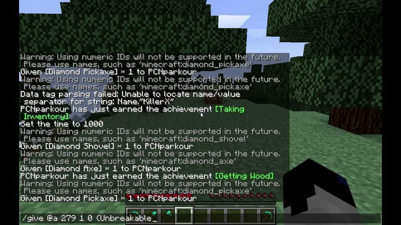 MineCraft Tutorial: UNBREAKABLE ITEMS & TOOLS - YouTube