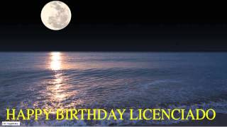 Licenciado  Moon La Luna - Happy Birthday