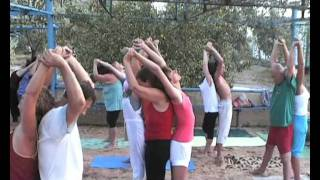 Казантип2011 занятие парная йога