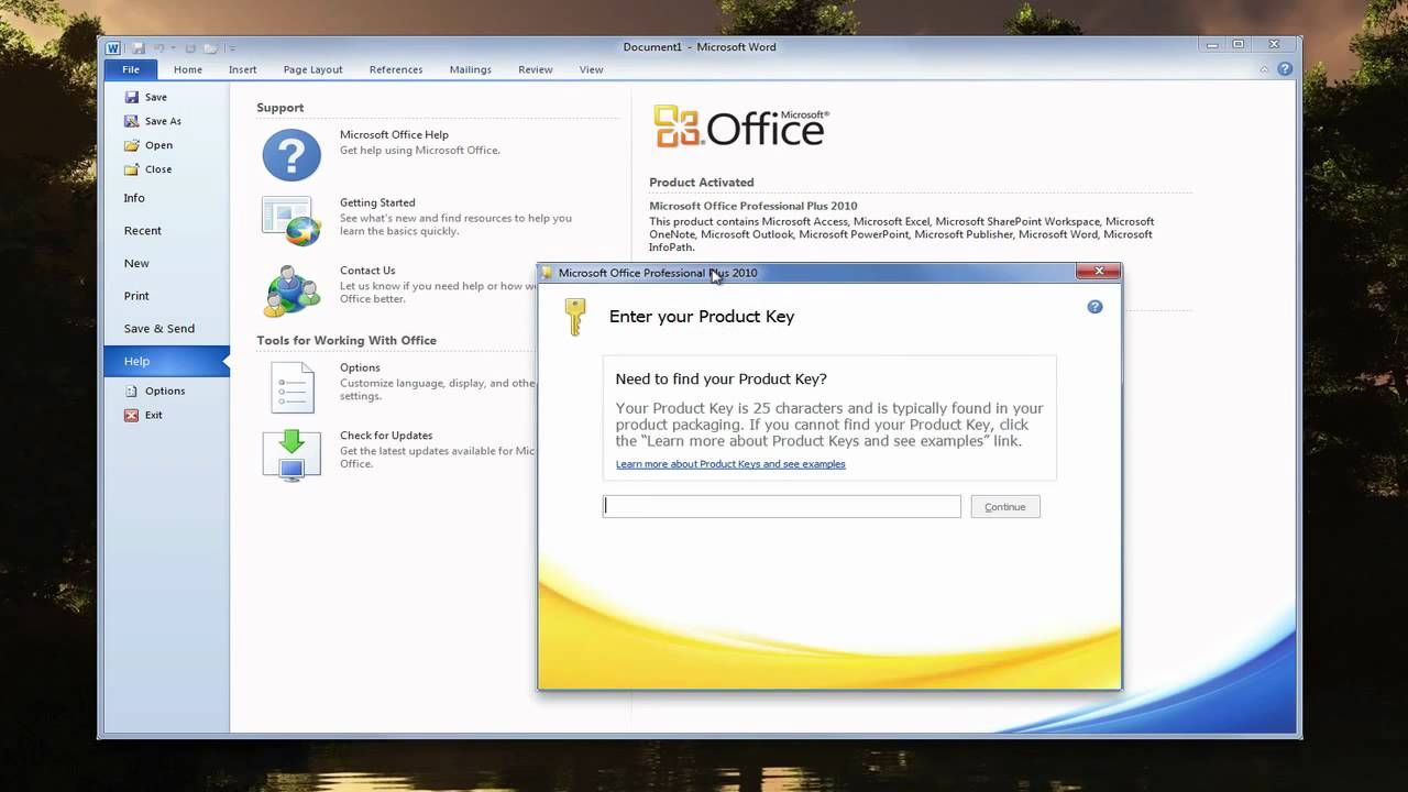 How to enter office 2010 product key youtube - Office license key finder ...