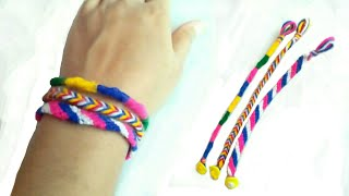 3 ideas of bracelet | Diy friendship bracelet | easy friendship band | friendship day especial