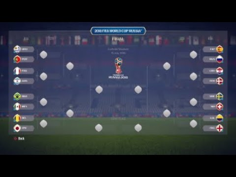 FIFA 18 Predict (Simulate): 2018 FIFA World Cup Knockout Stage (All Matches Simulation)
