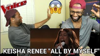 "The Voice 2017 Keisha Renee - Top 10: ""All By Myself"" (REACTION)"