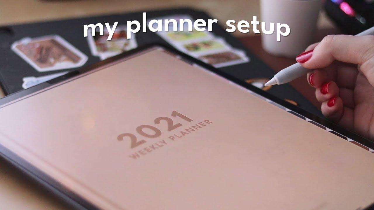 My simple 2021 planner setup 🍎