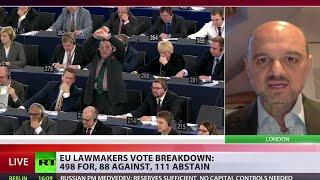 European Parliament votes to recognize Palestine state