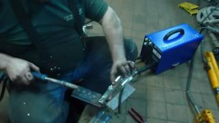 Инверторный полуавтомат Атлант MIG 220 сварка точек