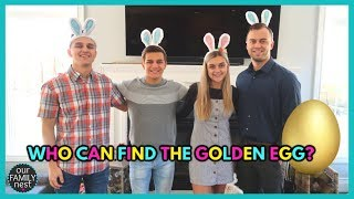 FAMILY EASTER SCAVENGER HUNT! CLUES LEAD TO THE GOLDEN EGG!