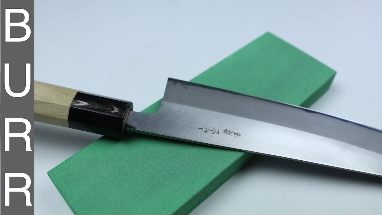 Sharpening Tosa Chef Knife 62 HRC On Naniwa Super Stone 400