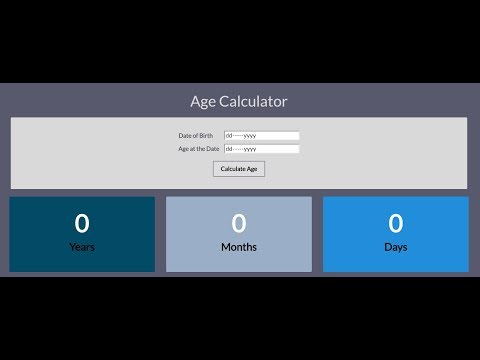 Develop An Age Calculator By Using HTML,CSS And JavaScript