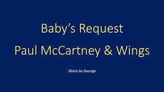 Wings Paul McCartney Baby's Request   karaoke