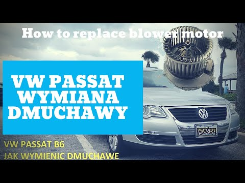 Vw passat how to replace blower motor