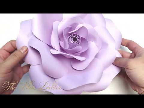 Paper Flower Tutorial: Blooming Rose