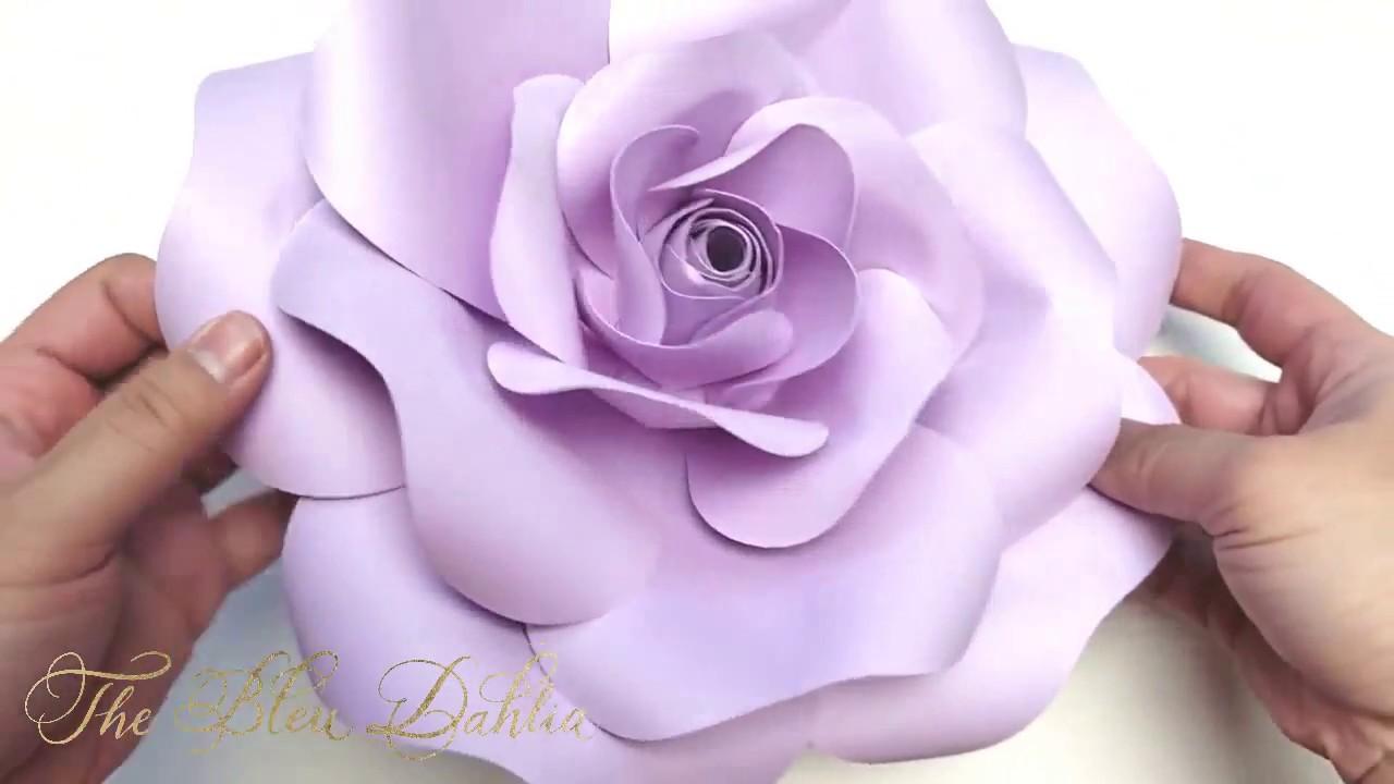 Paper Flower Tutorial Blooming Rose Youtube