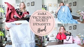 CLOTHING HAUL - ZARA, VICTORIA SECRET, DYNAMITE | BEST BRAS | Nesting Story