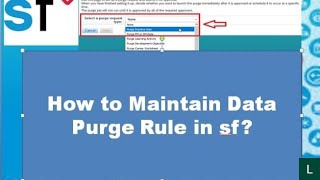 From this video we can learn: 1. how to create data purge rule 2. set approval for job 3. monitor 4. download ...
