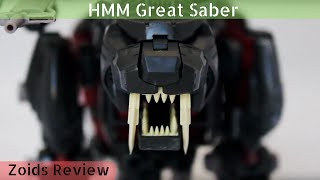 A review of Kotobukiya's 1/72 Highend Master Model Zoids, Great Sab...