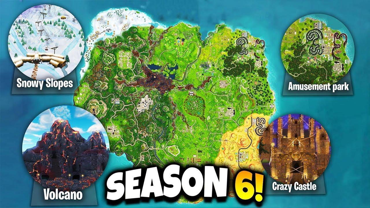 Fortnite 5 New Locations Coming To Season 6 Fortnite Season 6 Map