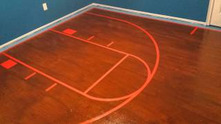 Painted Plywood Floors - Basketball Court - Intro