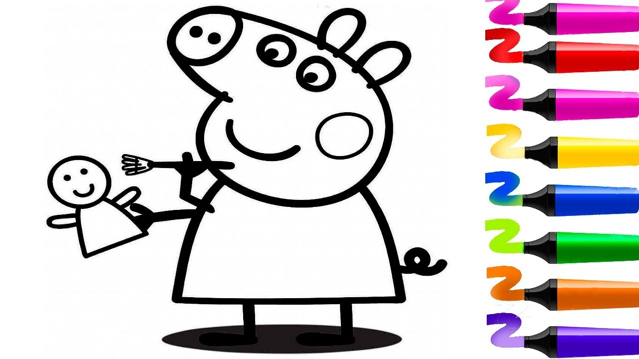 Peppa pig en fran ais coloriage peppa pig coloriage dessin anim peppa pig pisode complet - Dessin anime coloriage ...
