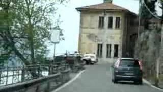 Driving along Lake Como