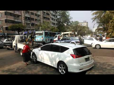 Try not to park your car at restricted areas in Yangon