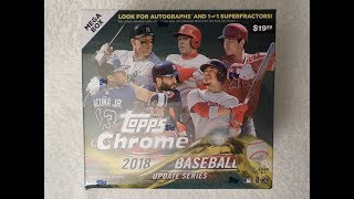 2018 Topps Chrome Update Series Baseball - MEGA BOX #3