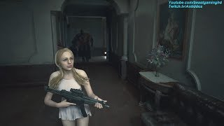 Resident Evil 2 Remake - Katherine Warren Meets Nemesis in the RPD (Mr.X Replaced) *read desc*