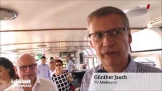 Günther Jauch  tauft Schiff in Münster
