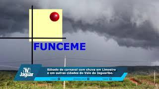 Sábado de carnaval com chuva em Limoeiro e em outras cidades do Vale do Jaguaribe
