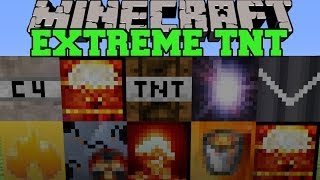 Minecraft: EXTREME TNT (SUPERNOVA, HYDROGEN BOMB, & MORE EXPLOSIVES!) Mod Showcase