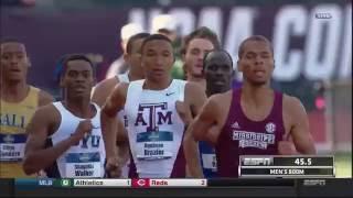 2016 NCAA Outdoor Track and Field Championships - Men's 800m Final - DONAVAN BRAZIER BREAKS RECORD