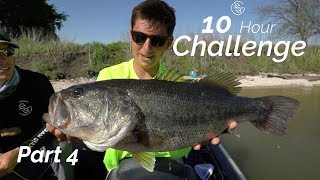 THIS SPOT IS LOADED!  --10 HOUR bass FISHING challenge (Part 4)