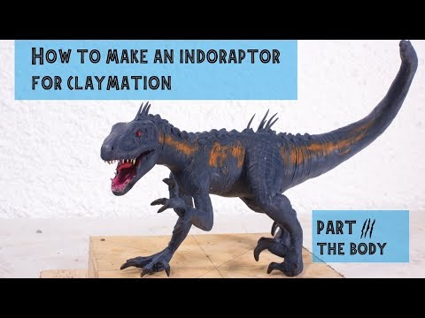 How to make an Indoraptor for claymation Part 3
