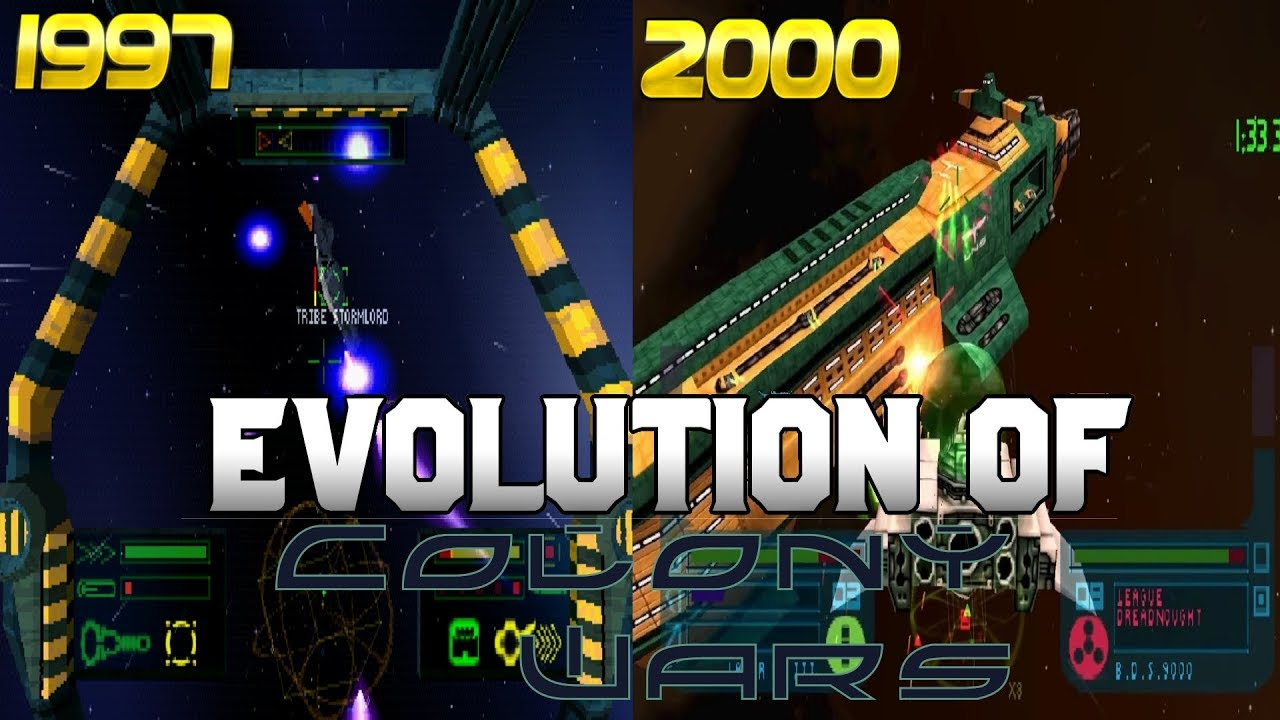 Graphical Evolution of Colony Wars (1997-2000)