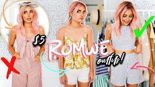 Wearing $5 Romwe Outfits for a Week! | Aspyn Ovard