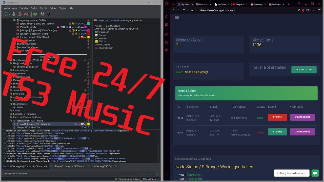Free 24 7 Ts3 Music Bot Youtube