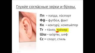 Бесплатный урок 14. Курсы русского как иностранного. Глухие согласные звуки и буквы