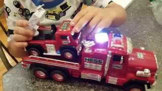 2015 hess toy fire truck   toy unboxing