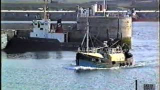Scottish Fishing Boat coming into Peterhead Harbour 1993