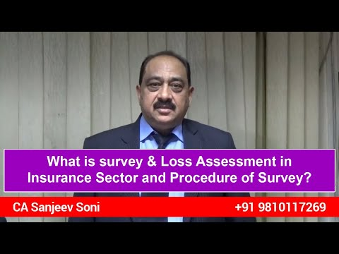 What is survey & Loss Assessment in Insurance Sector and Procedure of Survey?